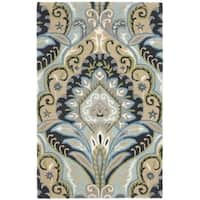 Safavieh Handmade Wyndham Contemporary Blue Wool Rug - 3' x 5'