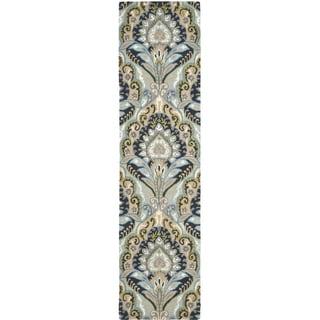 Safavieh Handmade Wyndham Blue Wool Rug (2'3 x 13')