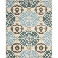 Safavieh Handmade Wyndham Beige/ Blue Wool Rug - 8'9 x 12'
