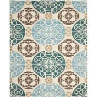 """Safavieh Handmade Wyndham Beige/ Blue Wool Rug - 8'9"""" x 12'"""