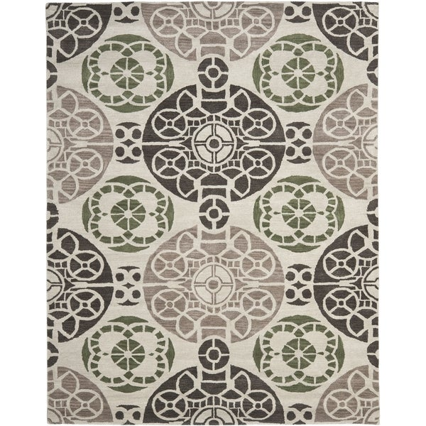 Safavieh Handmade Wyndham Ivory/ Brown Wool Rug - 8'9 x 12'