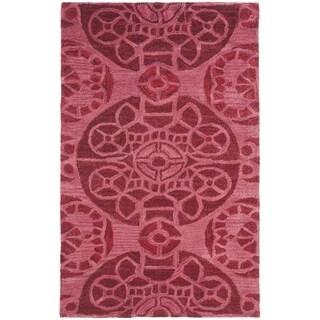 Safavieh Handmade Wyndham Red Wool Rug (2' x 3')