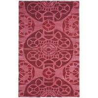 Safavieh Handmade Wyndham Red Wool Rug - 3' x 5'