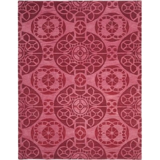 Safavieh Handmade Wyndham Red Wool Rug (8'9 x 12')