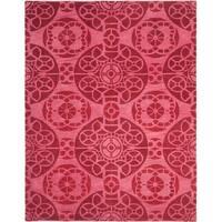 Safavieh Handmade Wyndham Red Wool Rug - 8'9 x 12'
