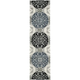 Safavieh Handmade Wyndham Grey/ Black Wool Rug (2'3 x 11')
