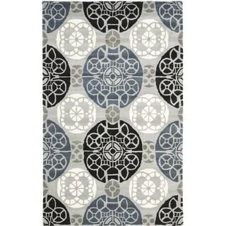 Safavieh Handmade Wyndham Grey/ Black Wool Rug (6' x 9')