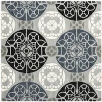 Safavieh Handmade Wyndham Grey/ Black Wool Rug - 8'9 Square