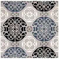 "Safavieh Handmade Wyndham Grey/ Black Wool Rug - 8'9"" x 8'9"" Square"