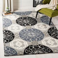 Safavieh Handmade Wyndham Grey/ Black Wool Rug - 10' x 14'