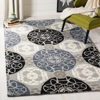 Safavieh Handmade Wyndham Grey/ Black Wool Rug (11' x 15')