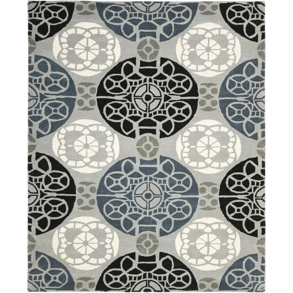 Safavieh Handmade Wyndham Grey/ Black Wool Rug - 11' x 15'