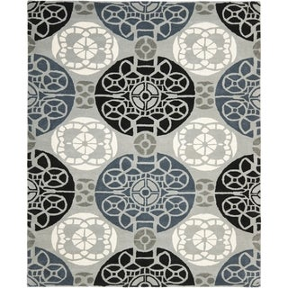 Safavieh Handmade Wyndham Grey/ Black Wool Rug (8'9 x 12')