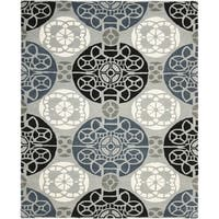 Safavieh Handmade Wyndham Grey/ Black Wool Rug - 8'9 x 12'