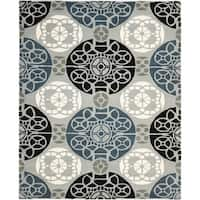"Safavieh Handmade Wyndham Grey/ Black Wool Rug - 8'9"" x 12'"