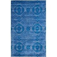 Safavieh Handmade Wyndham Blue Wool Rug - 11' x 15'