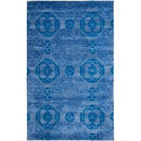 Safavieh Handmade Wyndham Blue Wool Area Rug - 6' x 9'