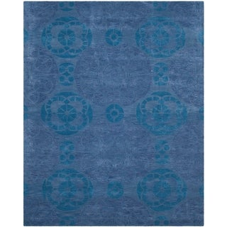 Shop Safavieh Handmade Wyndham Blue Wool Area Rug 8 9 X