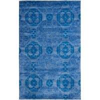 Safavieh Handmade Wyndham Blue Wool Area Rug (8'9 x 12') - 8'9 x 12'