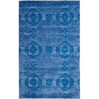 Safavieh Handmade Wyndham Blue Wool Area Rug (8'9 x 12')