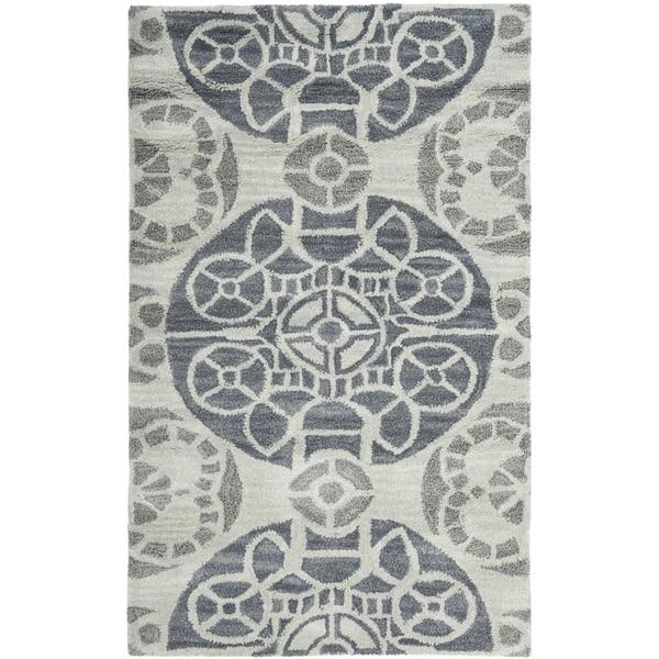 Safavieh Handmade Wyndham Silver Wool Rug (3' x 5')