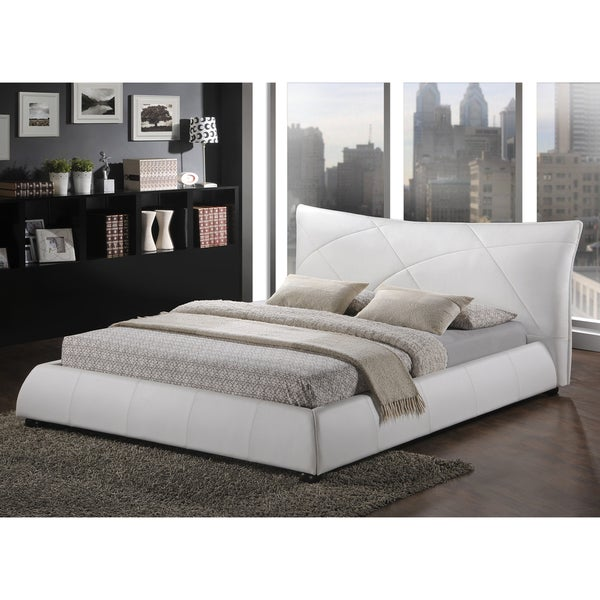 shop baxton studio corie white modern platform bed free shipping today 8077061. Black Bedroom Furniture Sets. Home Design Ideas