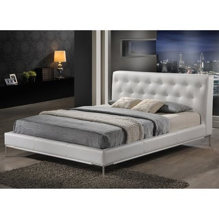 Baxton Studio Panchal White Queen Platform Bed