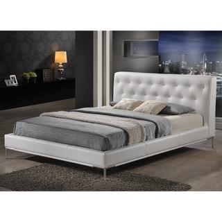Baxton Studio Panchal White Queen Platform Bed