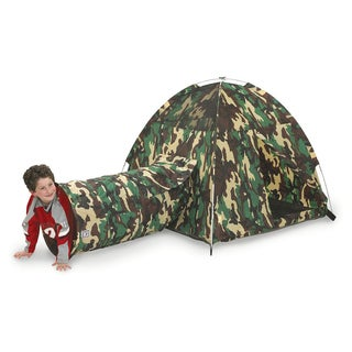 Pacific Play Tents Command Headquarters Tent and Tunnel Combo
