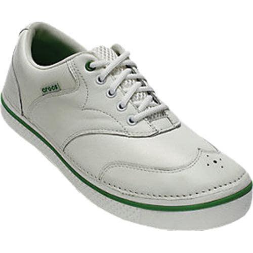 Men's Crocs Preston Golf White/Parrot Green