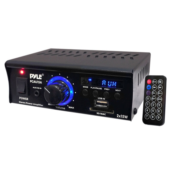 PyleHome PCAU15A Amplifier - 30 W RMS - 2 Channel