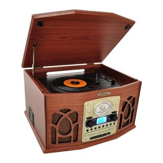 PyleHome Vintage PTCDS7UIW Record/CD/Cassette Turntable