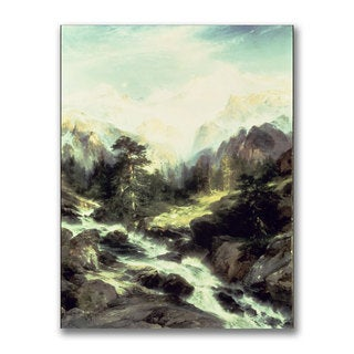 Thomas Moran 'In the Tetron Range' Canvas Art