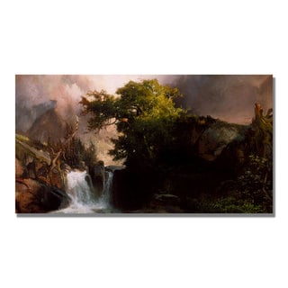 Thomas Moran 'A Mountain Stream' Canvas Art