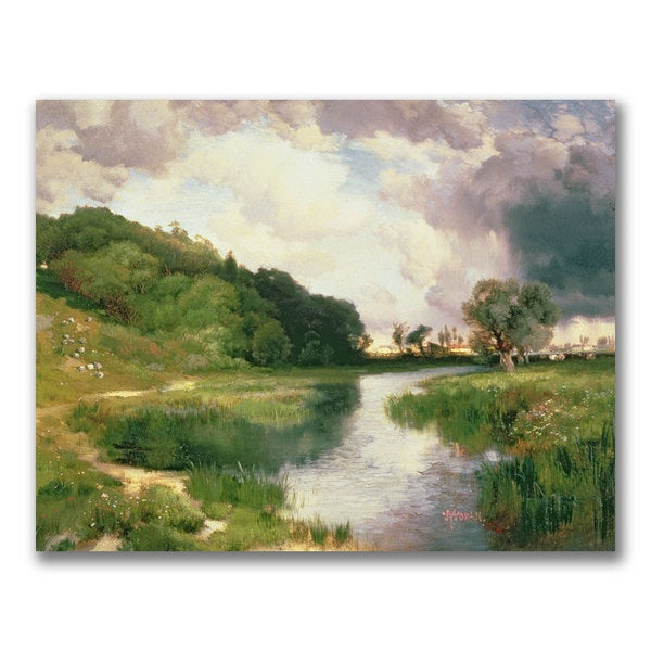 Thomas Moran 'Approaching Storm Amagansett' Canvas Art