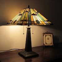 Chloe Tiffany Style Mission Design 2-light Blue Table Lamp