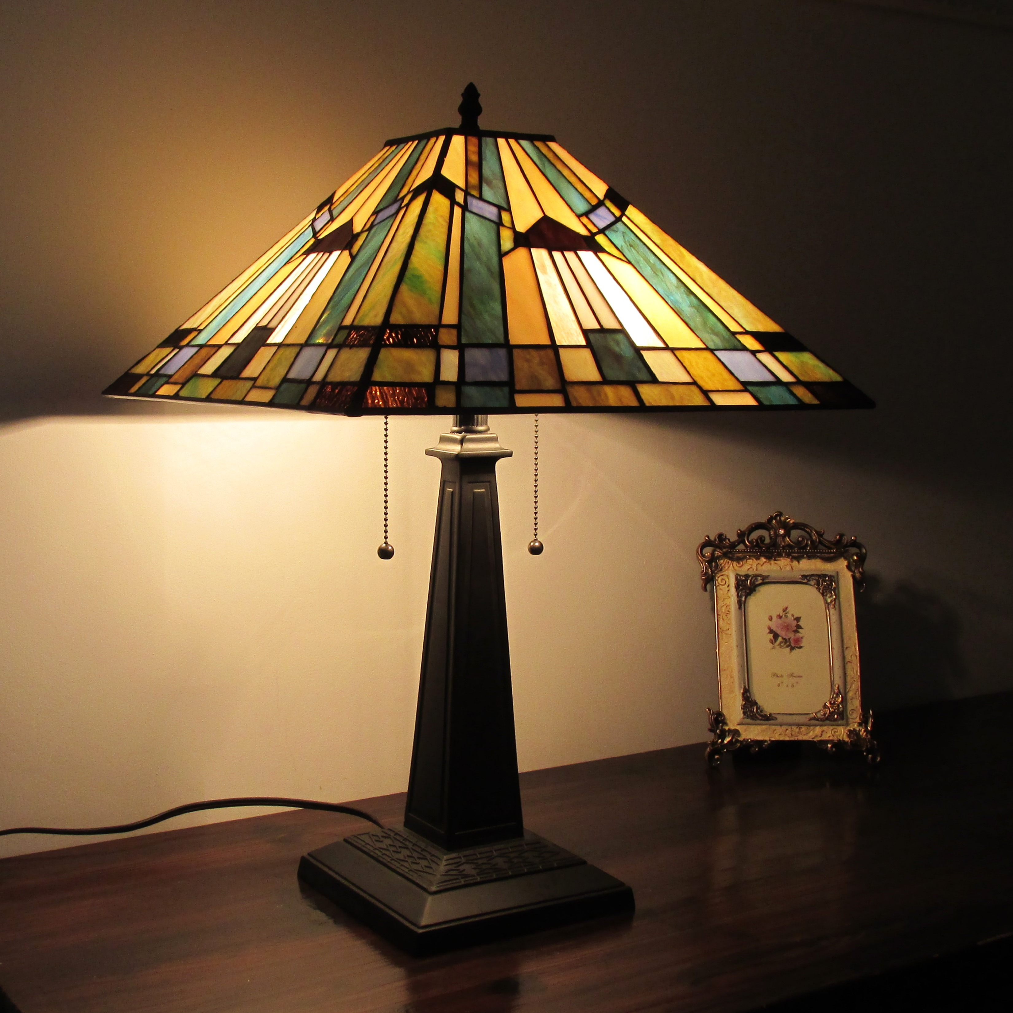 Living Room Lamp Shades: Tiffany Table Lamps For Living Room Stained Glass Shades