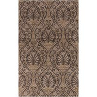 Hand-tufted Modern Classics Tan Floral Area Rug - 5' x 8'