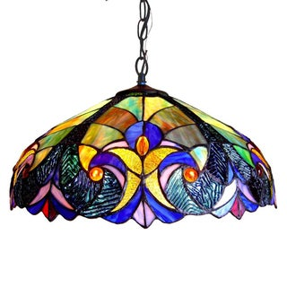 Chloe Tiffany Style Victorian Design 2-light Pendant