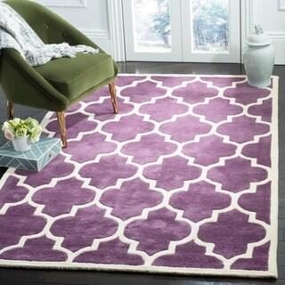 Safavieh Handmade Moroccan Chatham Purple Wool Rug (5' x 8')
