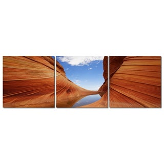 Baxton Studio Desert Sandstone Mounted Photography Print Triptych