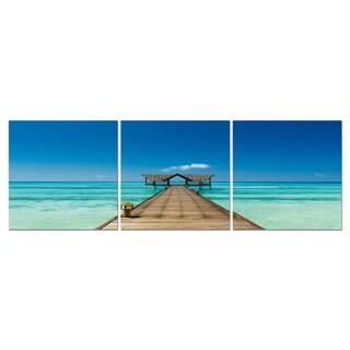 Baxton Studio Azure Tropics Mounted Photography Print Triptych
