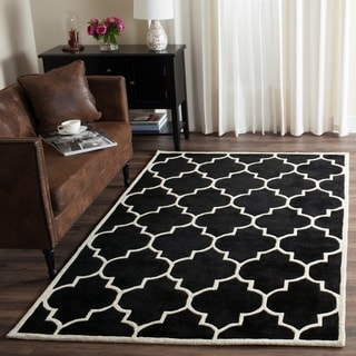 Safavieh Handmade Moroccan Black Wool Indoor Rug - 8' x 10'