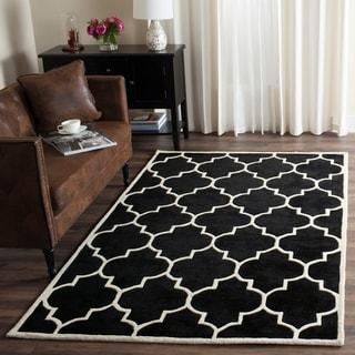 Safavieh Handmade Moroccan Black Wool Indoor Rug - 8' x 10'