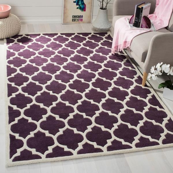 Safavieh Modern Handmade Moroccan Purple Wool Rug - 8' x 10'