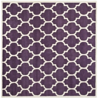 Safavieh Handmade Moroccan Purple Pure Wool Rug (7' Square)