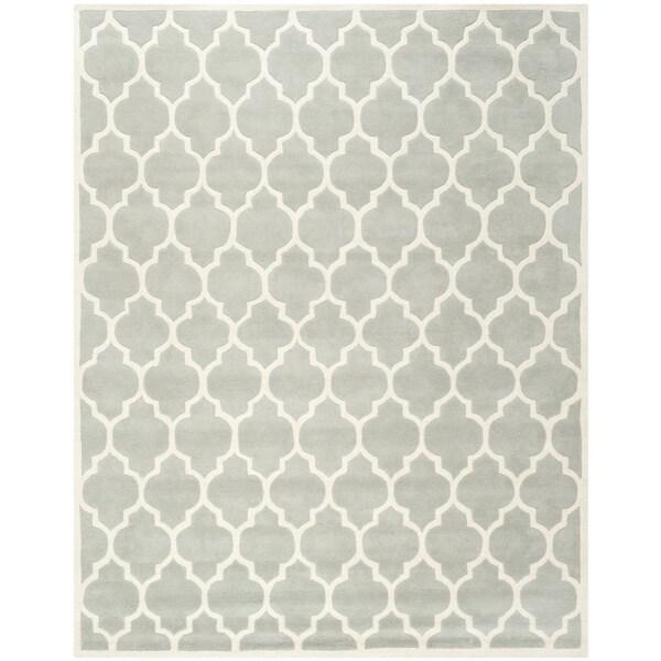 Safavieh Handmade Moroccan Chatham Collection Gray Wool Rug (8' x 10')
