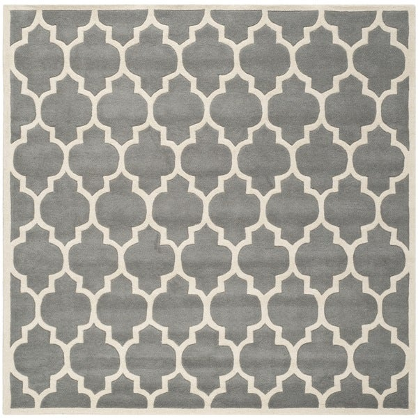 Wonderful Safavieh Handmade Moroccan Dark Grey Geometric Pattern Wool Rug (8u0026#x27 ...