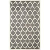 Safavieh Handmade Moroccan Chatham Dark Grey Wool Area Rug - 4' x 6'