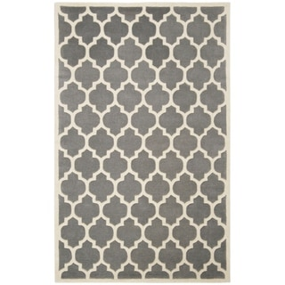 Safavieh Handmade Moroccan Chatham Dark Grey Wool Area Rug (4' x 6')